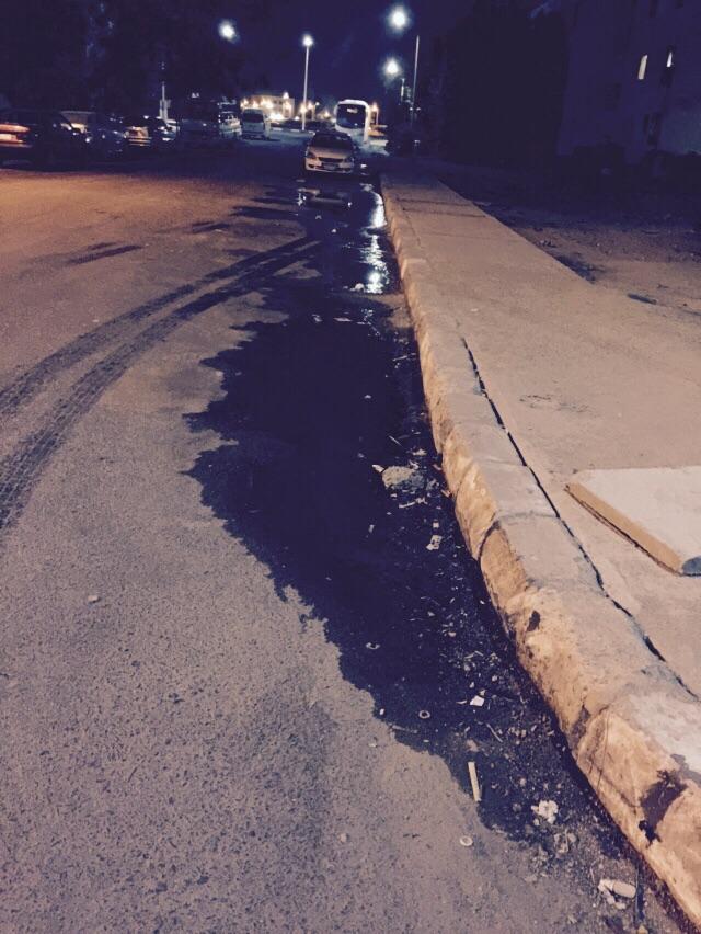 طفح الصرف الصحي في أحد أحياء شرم الشيخ