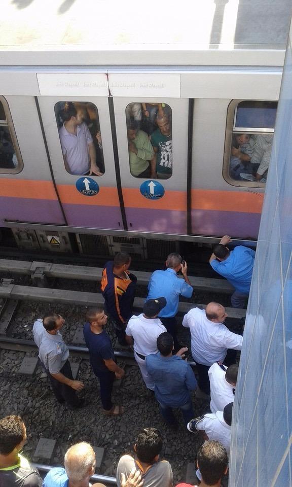 توقف حركة المترو في محطة فيصل بعد سقوط فتاة على القضبان