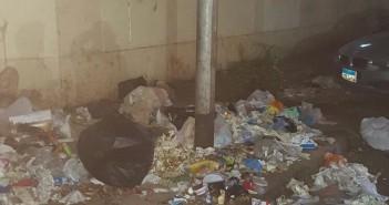 صور.. تراكم القمامة والمخلفات بجوار مستشفى القوات المسلحة بالعجوزة