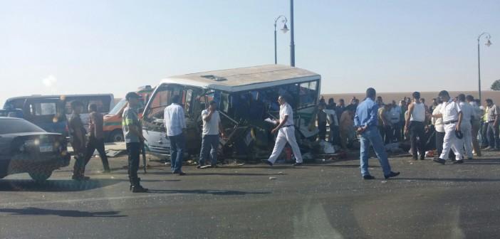 📷 حادث تصادم مروع على طريق مصر ـ الإسماعيلية الصحراوي