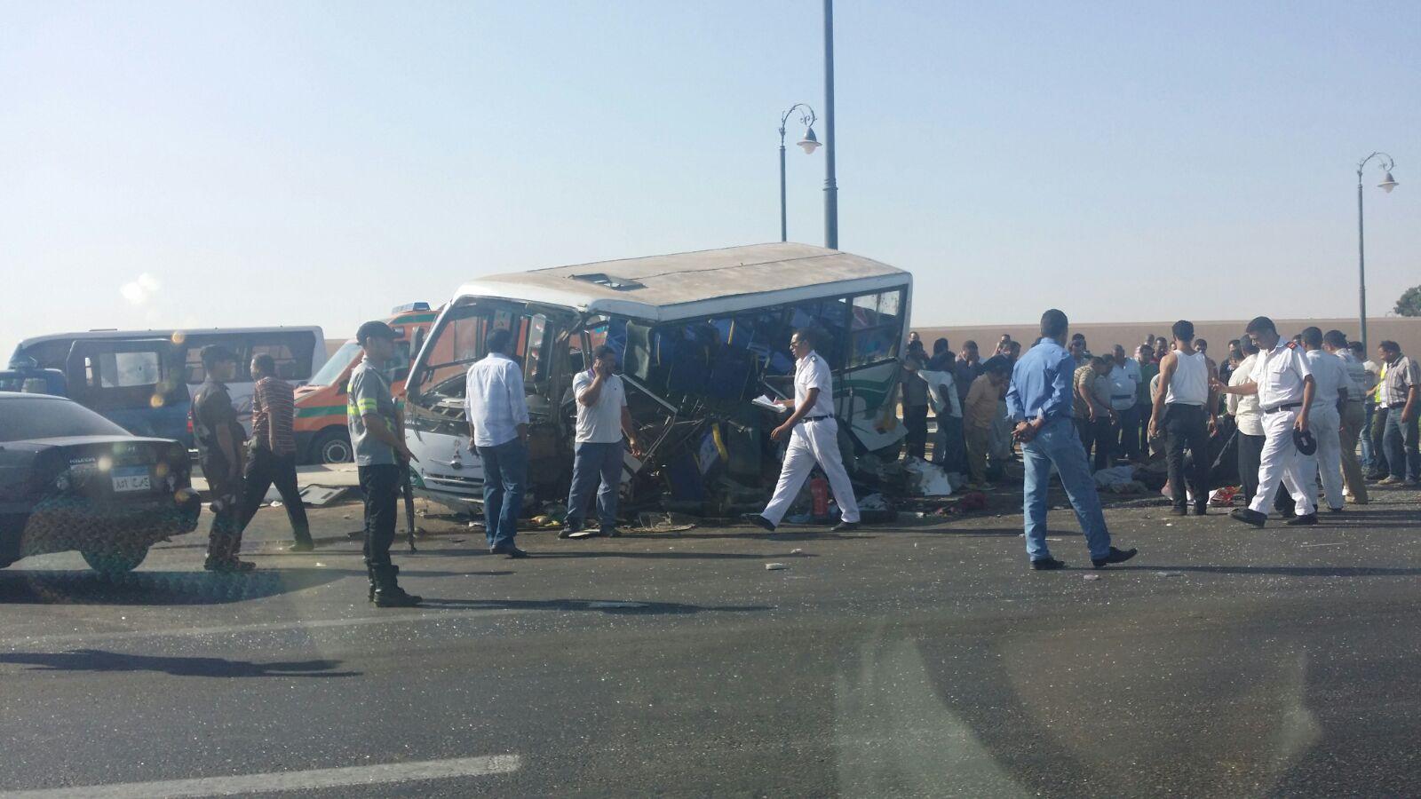حادث تصادم مروع على طريق مصر ـ الإسماعيلية الصحراوي