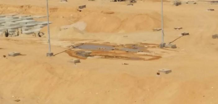 بالصور.. تسرب المياه وإهدارها في مدينة السادات: «مالهاش صاحب»