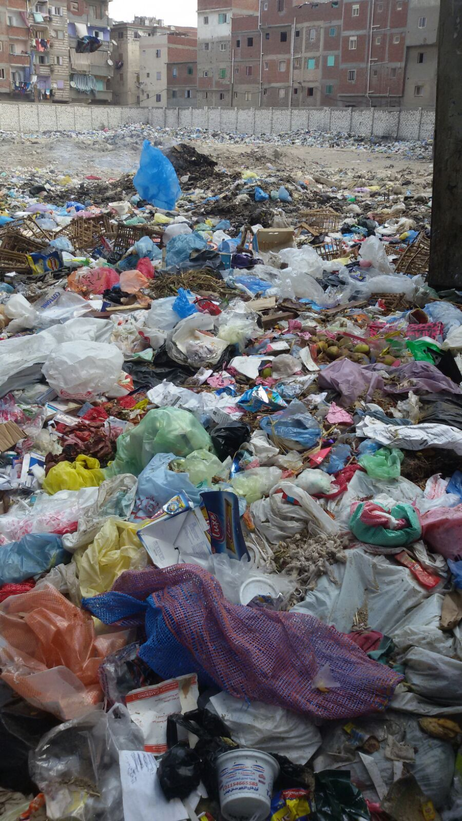 بالصور.. مواطنة تشكو تراكم القمامة في شارع بالإسكندرية.. وغرباء يشربون المخدرات