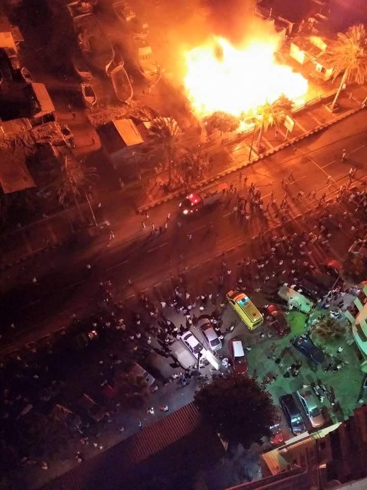 حريق ضخم يلتهم مركز صناعة السفن بالإسكندرية