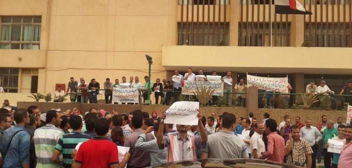 بالصور.. وقفة احتجاجية لمهندسي الري أمام وزارتهم للمطالبة بتحسين أجورهم 📷