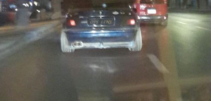 بالصور.. «أصلها أوف لاين».. سيارة على كورنيش الإسكندرية دون لوحة معدنية 📷