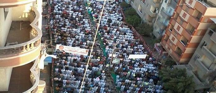 📷 صور.. الآلاف يؤدون صلاة العيد في شربين 🐑🎉