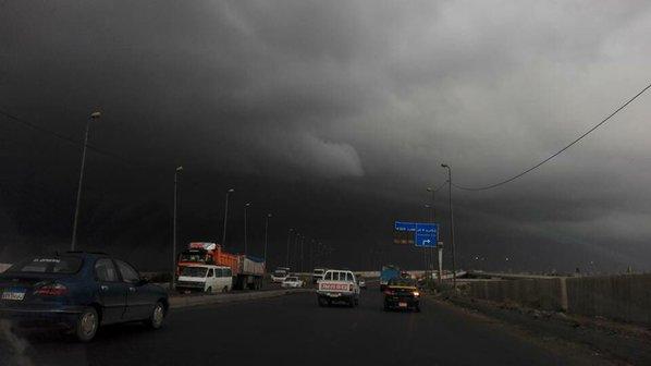 الإسكندرية قبل لحظات من سقوط الأمطار ـ  ديدي القاضي