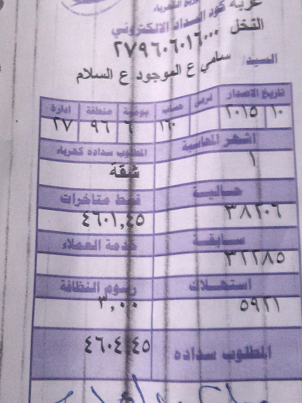 4600 جنيه في الشهر.. فاتورة كهرباء شقة تتكون من غرفتين
