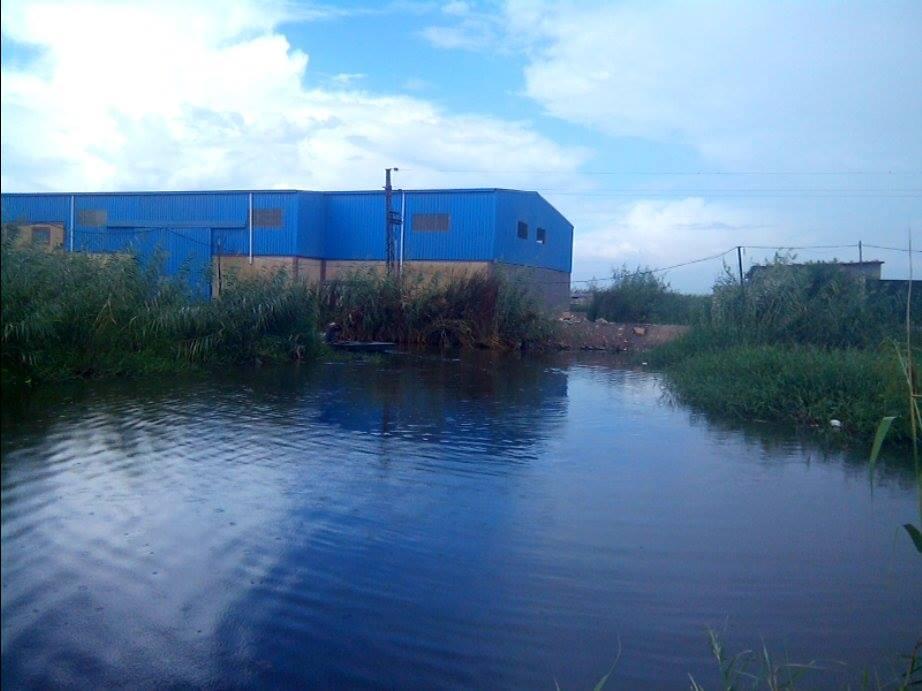 أحد المصانع في ملاحات البحيرات العزبة بالإسكندرية