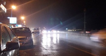 سقوط أمطار خفيفة بالإسكندرية