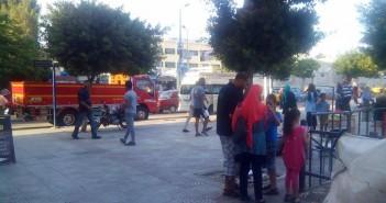 بالصور.. دعاية انتخابية قرب لجان محرم بك في الإسكندرية