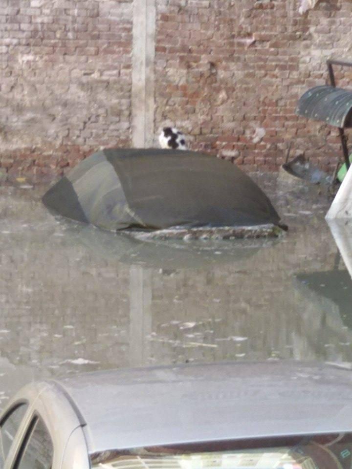 صور جديدة وواضحة تُظهر «غوص» سيارات في محرم بك في مياه الأمطار