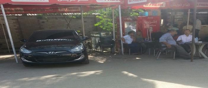 بالصور.. سيارة مخالفة في قلب وحدة تراخيص مرور شبرا بعبود 📷