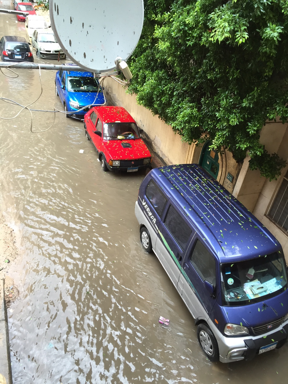 34 صورة من كارثة أمطار الإسكندرية