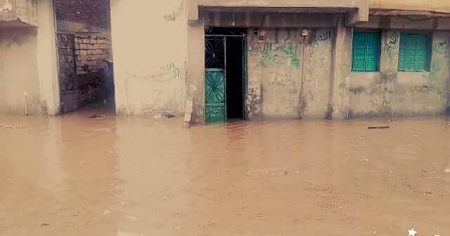 ⛅ بالصور.. غرق حوش عيسى.. ومواطنون يواجهون الأمطار بـ«الجرادل» 📷