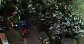 بالصور.. تراكم القمامة في أحد شوارع الطالبية بالجيزة
