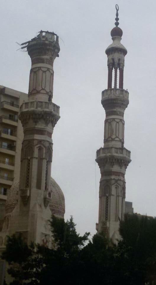 دون ترميمها.. عام على سقوط مئذنة مسجد خالد بن الوليد بالإسكندرية