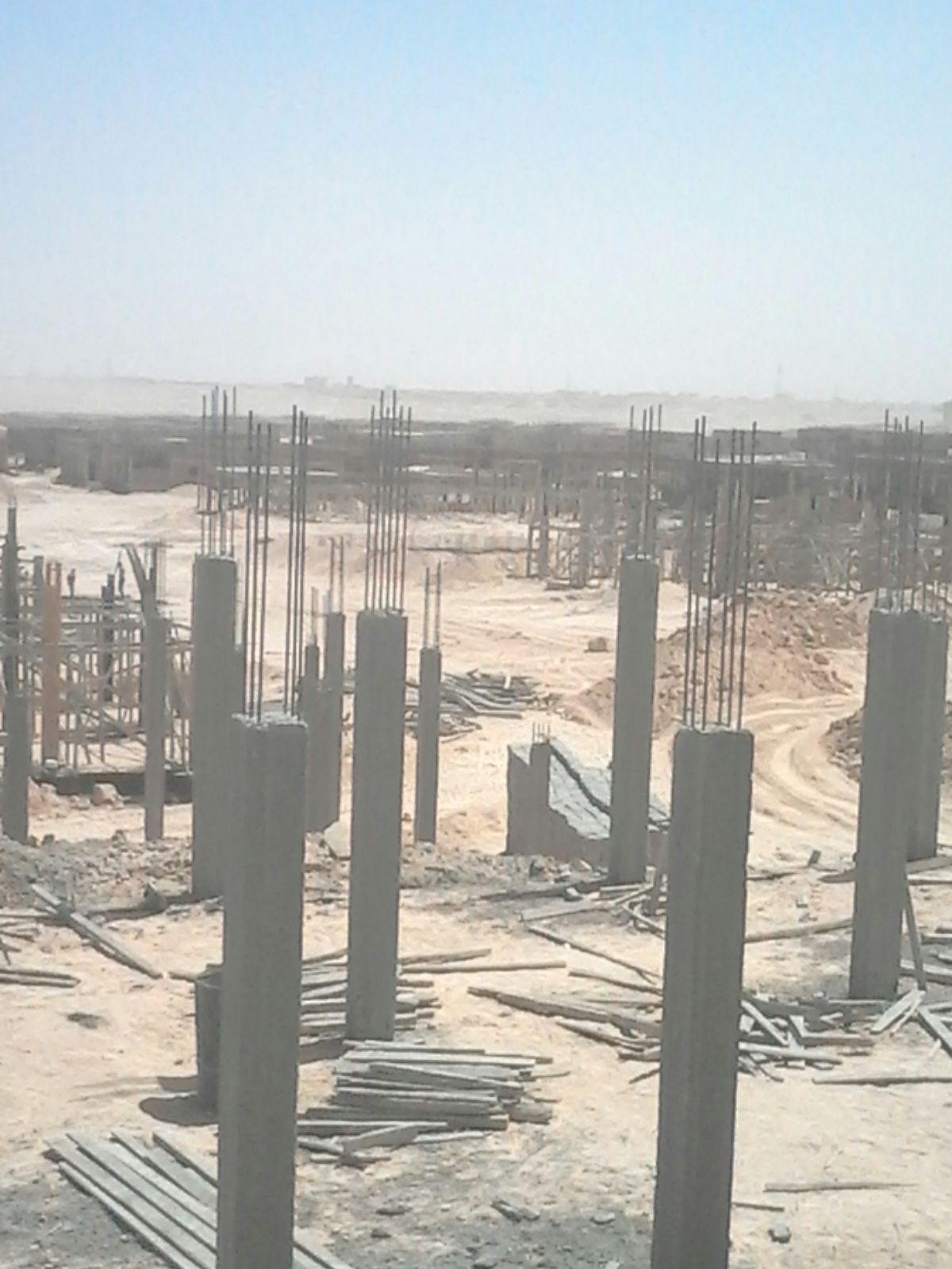 شاهد.. الصور الأولى لبدء بناء مدينة عمال المشروع النووي في الضبعة