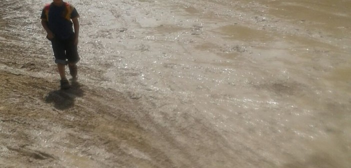 📷 المياه تغرق شوارع أبيس القومية في كفر الدوار