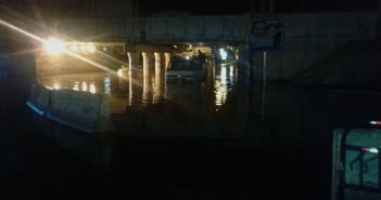 كوبري المندرة بالإسكندرية بعد «نص ساعة شتا» في أولى ساعات الصباح
