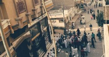 المشهد أمام لجان أبو المطامير بالبحيرة في اليوم الأول للتصويت