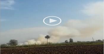 بالفيديو.. مواطن يرصد سحب دخان حرق قش الأرز (شاركنا صورك من مكانك)