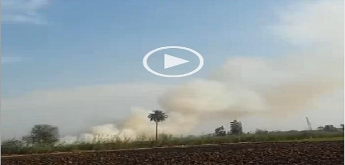 بالفيديو.. مواطن يرصد تصاعد سحب دخان حرق قش الأرز ▶ (شاركنا صورك من مكانك 📢)