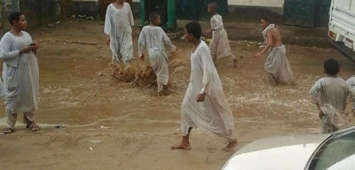 📷 أمطار غزيرة بقرى مركز دراو في أسوان