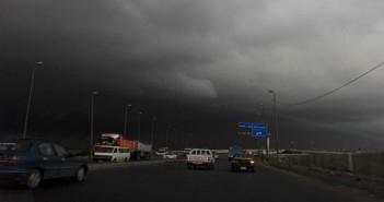 الإسكندرية قبل لحظات من سقوط الأمطار