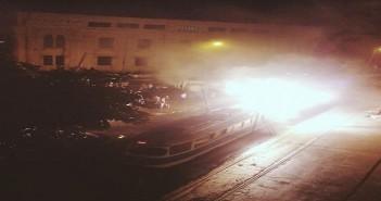 نشوب حريق في الترام كافيه بالإسكندرية