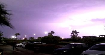 رعد في شرم الشيخ وأمطار غزيرة
