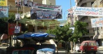 مسجد فى الإسكندرية يزيل دعاية المرشحين
