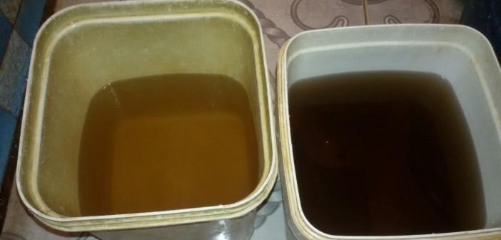 📷 تلوث مياه إحدى قرى الزقازيق الشرقية.. وتغير لونها للأصفر والبني
