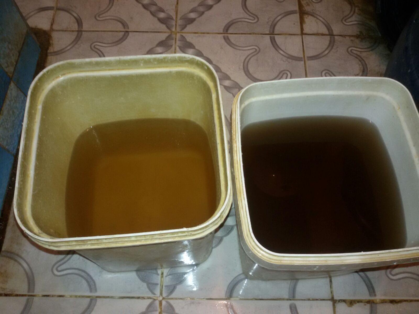 📷 تلوث مياه إحدى قرى الزقازيق الشرقية.. وتغير لونها إلى الأصفر والبني