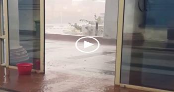فيديو.. لحظة سقوط غزير للأمطار والثلج في ميناء الإسكندرية