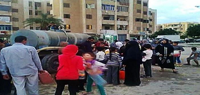 غضب أهالي برج العرب لتواصل انقطاع المياه عن المدينة لليوم السادس