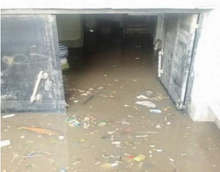 📷| غرق مبنى منطقة ضرائب وسط الدلتا في طنطا