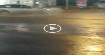 أمطار في مدينة الأحساء بالسعودية