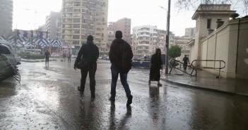 أمطار غزيرة في مصر الجديدة