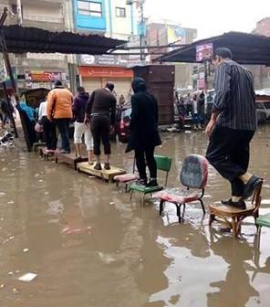 📷  بالصور.. الدقهلية تحت حصار الأمطار (#المنصورة_بتغرق)