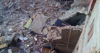 انهيار عقار في محرم بك بالإسكندرية