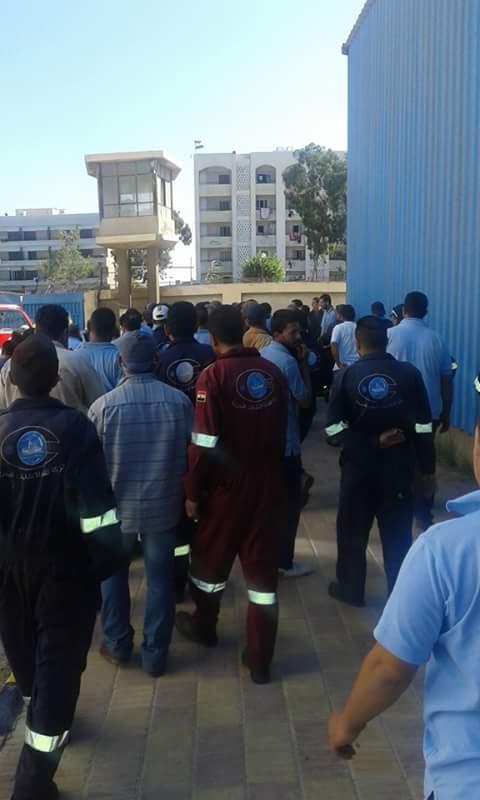 إضراب عمال شركة الإنشاءات البحريةي بقناة السويس
