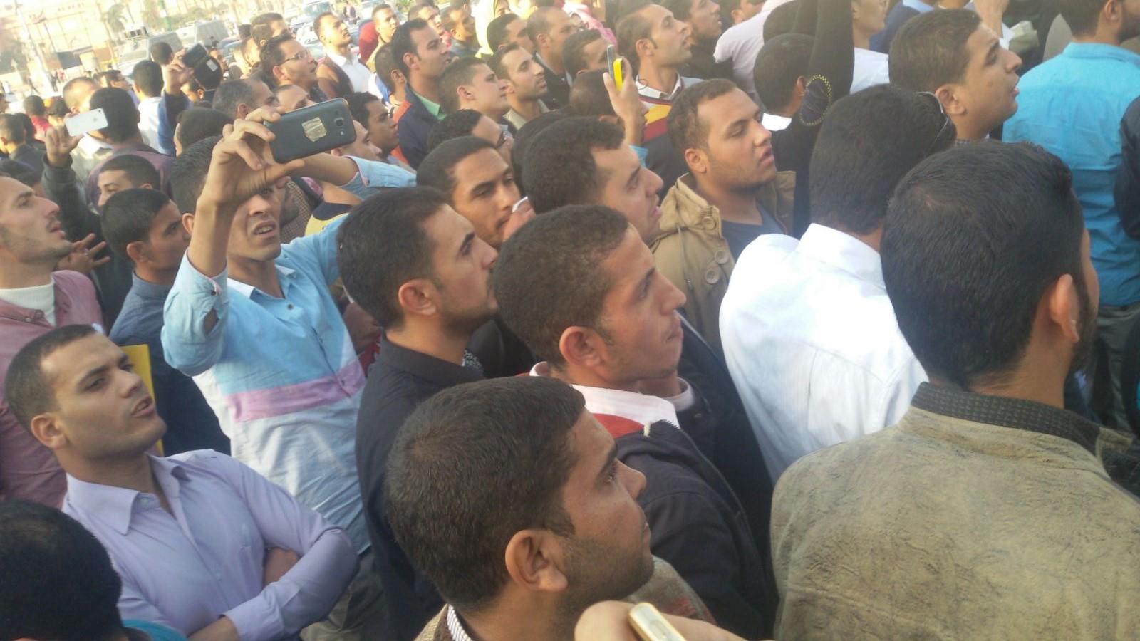 حملة الماجستير والدكتوراه يتظاهرون في «التحرير» للمرة الثانية خلال نوفمبر