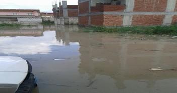 1wاستمرار غرق شوارع وبيوت عزبة «إبراهيم صالح» بالعامرية