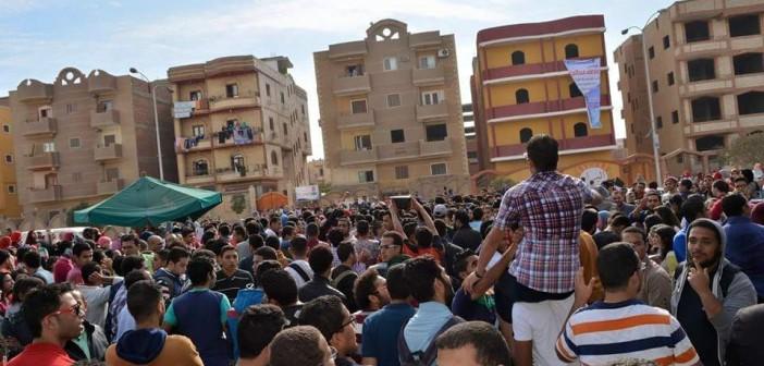 📷| بالصور.. مظاهرات طلابية بجامعة النهضة في بني سويف