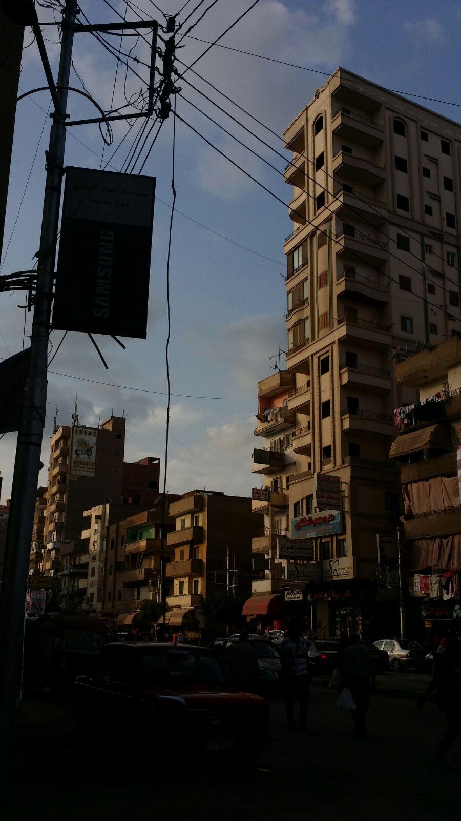 انقطاع الكهرباء في شارع الجلاء بالمنصورة