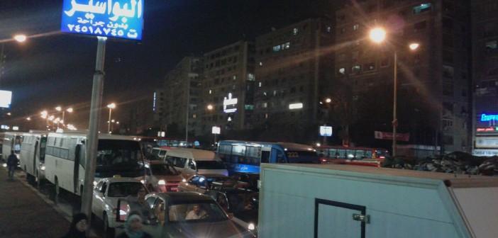 📷| مصر ركنت في صلاح سالم.. والمرور متوقف تمامًا
