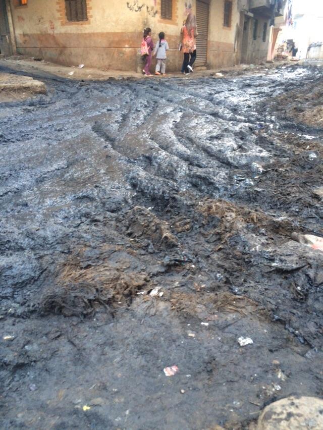 تفاقم أزمة الصرف في منشأة غربال بالبحيرة