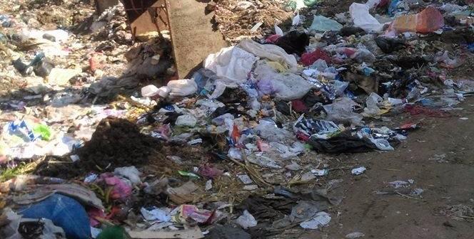 📷| شارع «بيبان» الرئيسي في كوم حمادة يتحول مقلب قمامة